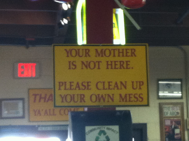 Sign at Rudy's in Albuquerque