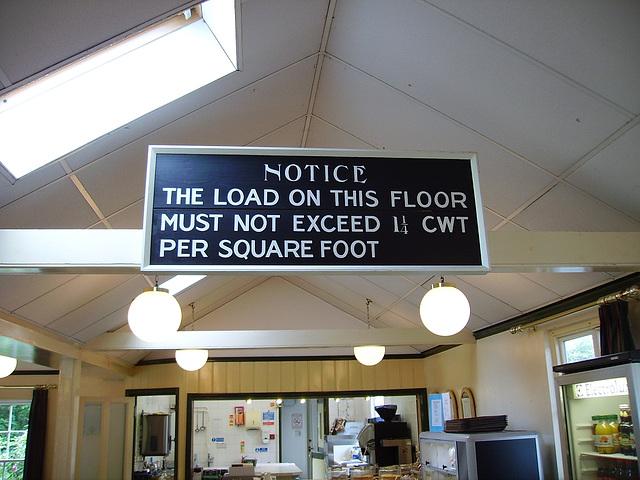 O&S - W&LLR cafe notice