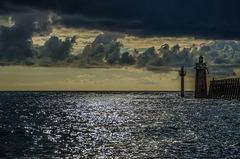 La balise de Cap Breton à marée haute.