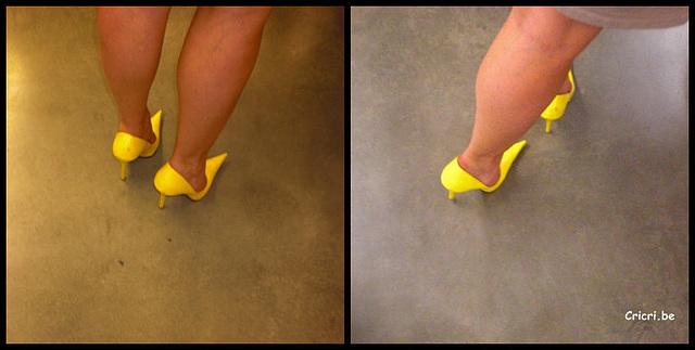 Dernier cricricri..... Escarpins jaunes / Yellow heels.