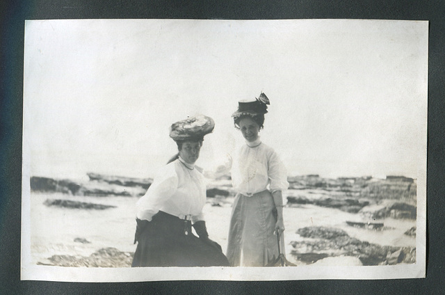 Girlfriends at the seashore
