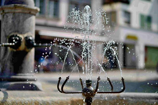 La fontaine aux jets d'eau...