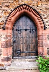 Side Door to All Saints Church, Leek, Staffordshire