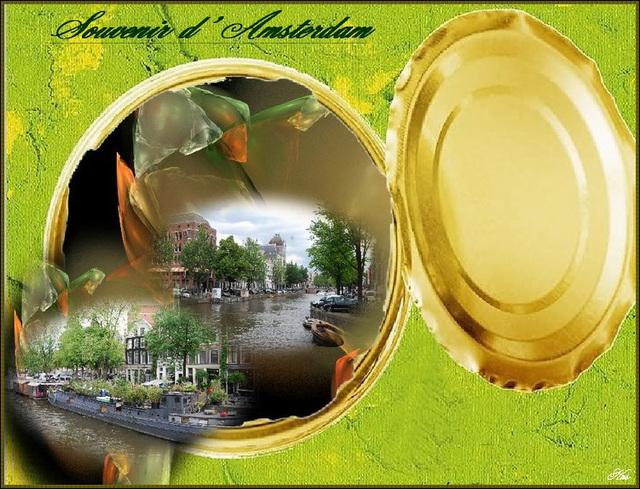 Création Krisontème - Amsterdam en boite de conserve / Amsterdam canned memories.