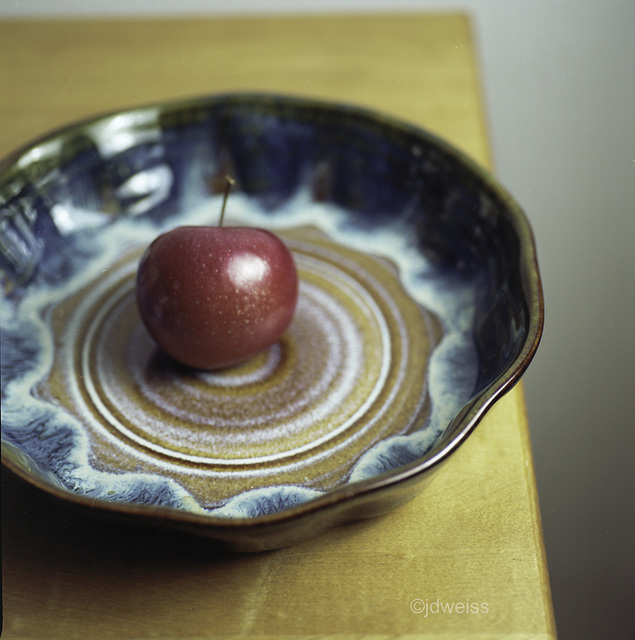 ceramic bowl with apple