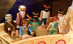 Detail of the Spectators in the Playmobil Roman Colosseum Display in  FAO Schwarz, August 2007