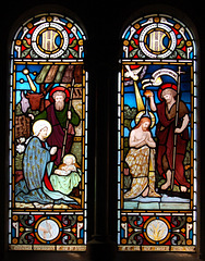 South aisle window, St Katherine, Rowsley, Derbyshire