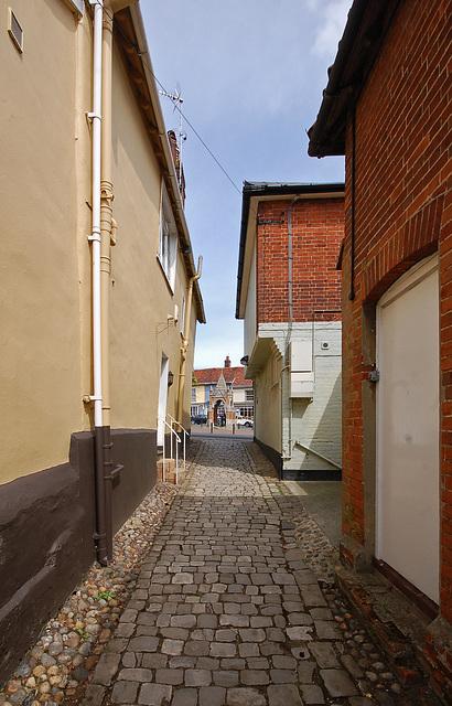 Looking towards Market Hill from the Churchyard, Woodbridge, Suffolk