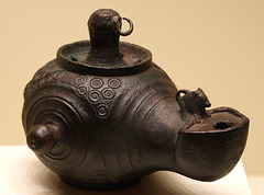 Roman Lamp with a Mouse in the Getty Villa, July 2008