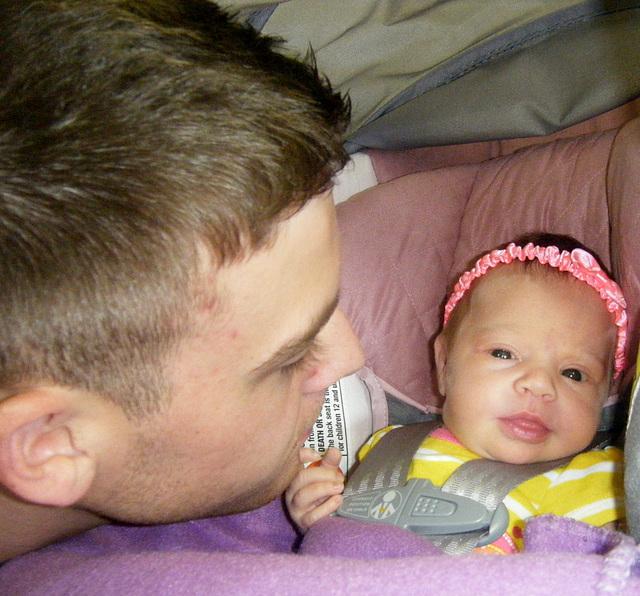 Daddy making me smile