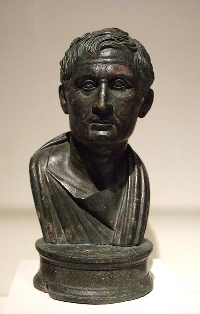 Bronze Bust of Menander in the Getty Villa, June 2008