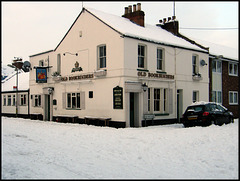 snow at the Old Bookbinders