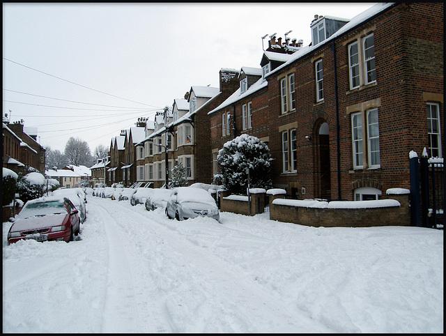 Walton Crescent in the snow