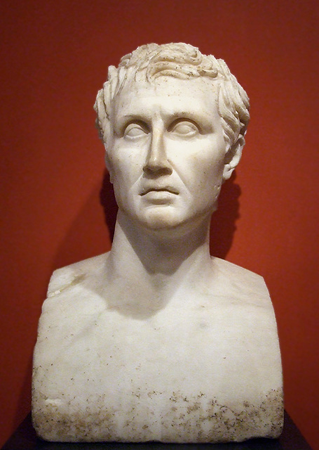 Bust of Menander in the Getty Villa, July 2008