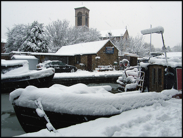 Jericho canalside in the snow
