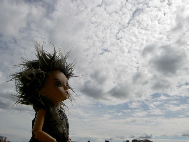 Deimos watching clouds