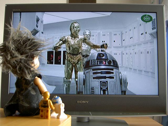 Deimos watching Star Wars