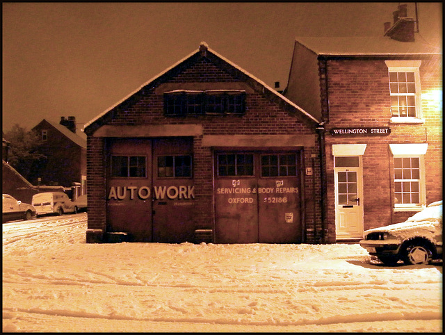 Auto Work in the snow