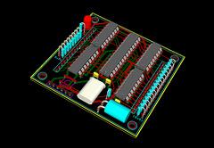 8x8 RGB Matrix board V2 - 3D