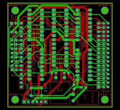 8x8 RGB Matrix board V2 - layout