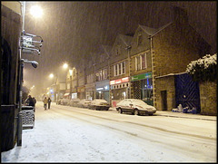 snowy night in Walton Street