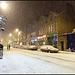 snowy night in Walton Street