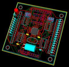 8x8 RGB Matrix board V3 - 3D
