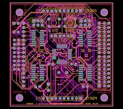 8x8 RGB Matrix board V3 - layout