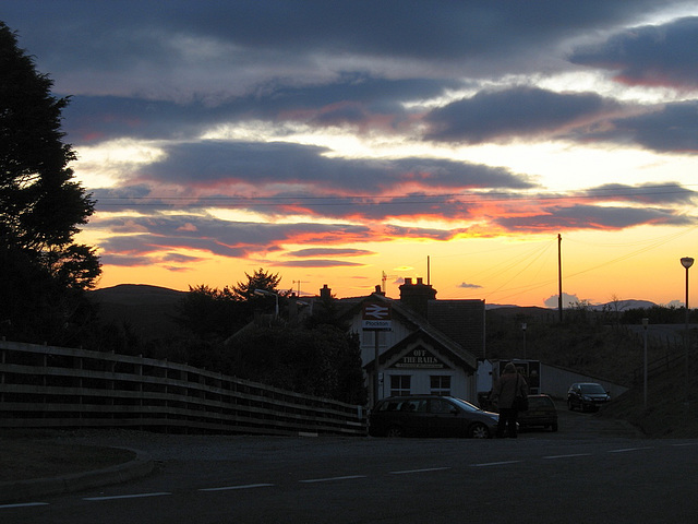 Sunset at Plockton station