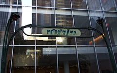Detail of the Entrance Gate to the Paris Metro in  the Museum of Modern Art's Sculpture Garden, July 2007