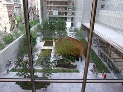 Window Looking Down on the Museum of Modern Art's Sculpture Garden, May 2007