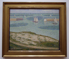Port-en-Bessin: Entrance to the Harbor by Seurat in the Museum of Modern Art, July 2007