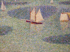 Detail of Port-en-Bessin: Entrance to the Harbor by Seurat in the Museum of Modern Art, July 2007