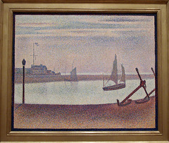 Channel at Gravelines- Evening by Seurat in the Museum of Modern Art, July 2007