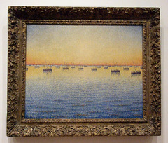 Setting Sun: Sardine Fishing by Paul Signac in the Museum of Modern Art, December 2007