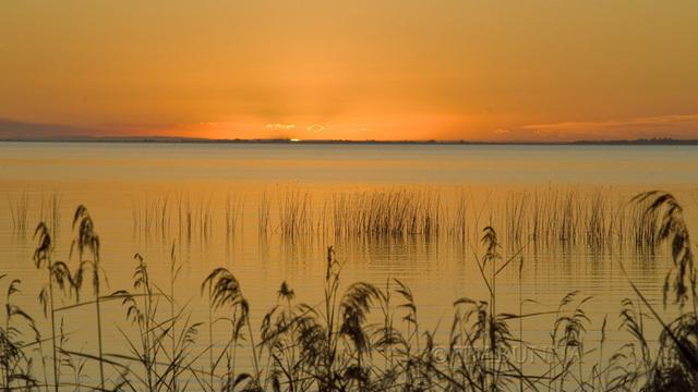 Sunset at Lake Albert