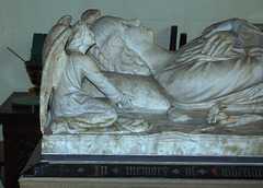 Memorial to Lady Manners by William Calder Marshall RA, St Katherine's Church, Rowsley, Derbyshire