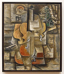 Violin and Grapes by Picasso  in the Museum of Modern Art, July 2007