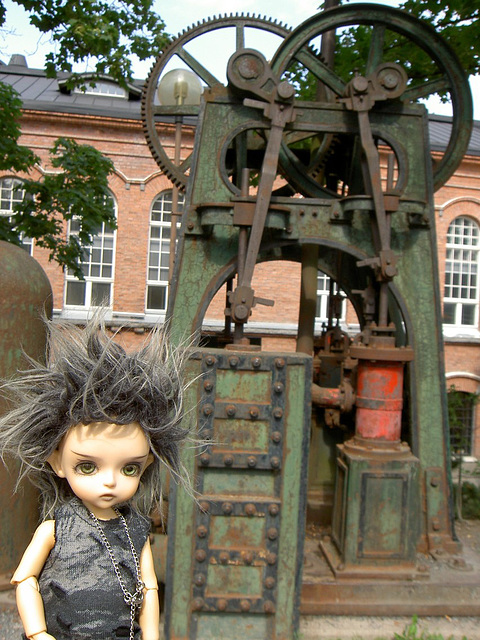 Deimos and an old water pump