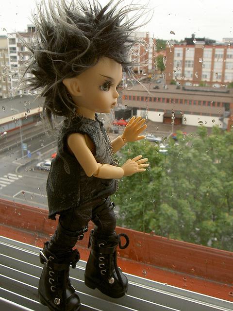 Deimos looking at rain again
