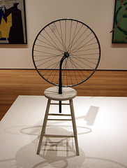 Bicycle Wheel by Marcel Duchamp in the Museum of Modern Art, August 2007