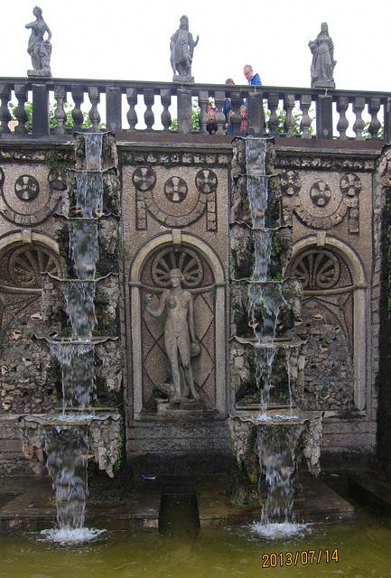 Detail der historischen Wasserkaslade