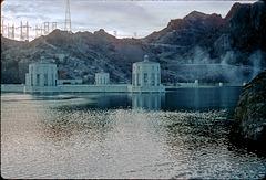 Back of Hoover Dam.