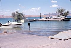 Sunken ranger station, Lake Mead