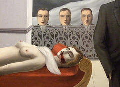 Detail of The Menaced Assassin by Magritte in the Museum of Modern Art, December 2007