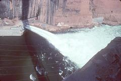 Glen Canyon spillway, flood of 1983