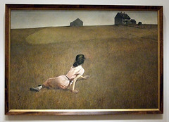 Christina's World by Wyeth in the Museum of Modern Art, July 2007