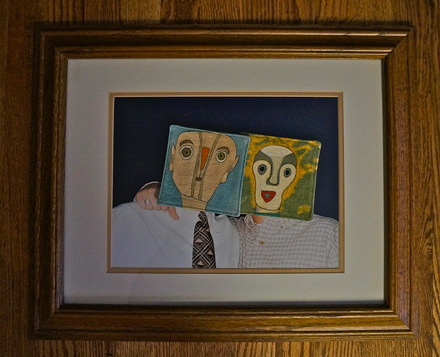 A Framed Portrait of My Two Sons