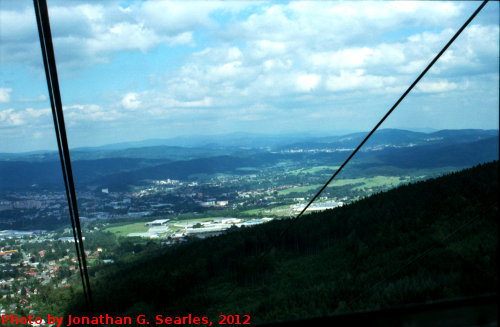 View from Gondola on Jested, Picture 3, Edited LoRes Version, Liberecky Kraj, Bohemia (CZ), 2012