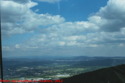 View from Jested, Picture 1, Liberecky Kraj, Bohemia (CZ), 2012